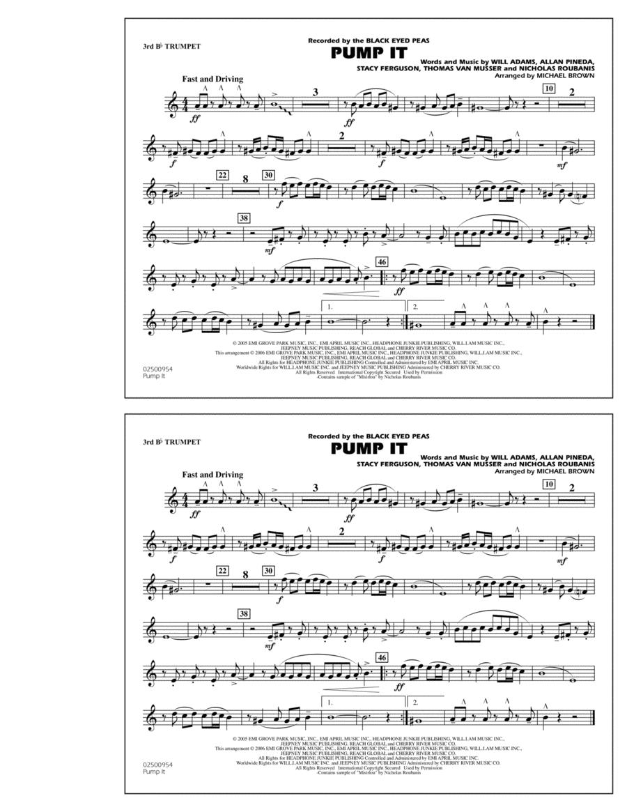Pump It - 3rd Bb Trumpet