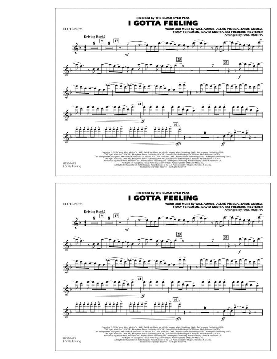 I Gotta Feeling - Flute/Piccolo