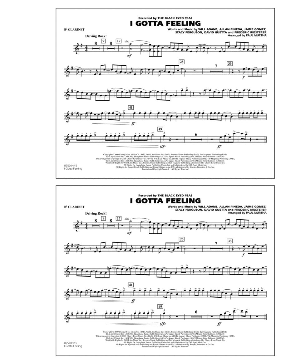 I Gotta Feeling - Bb Clarinet