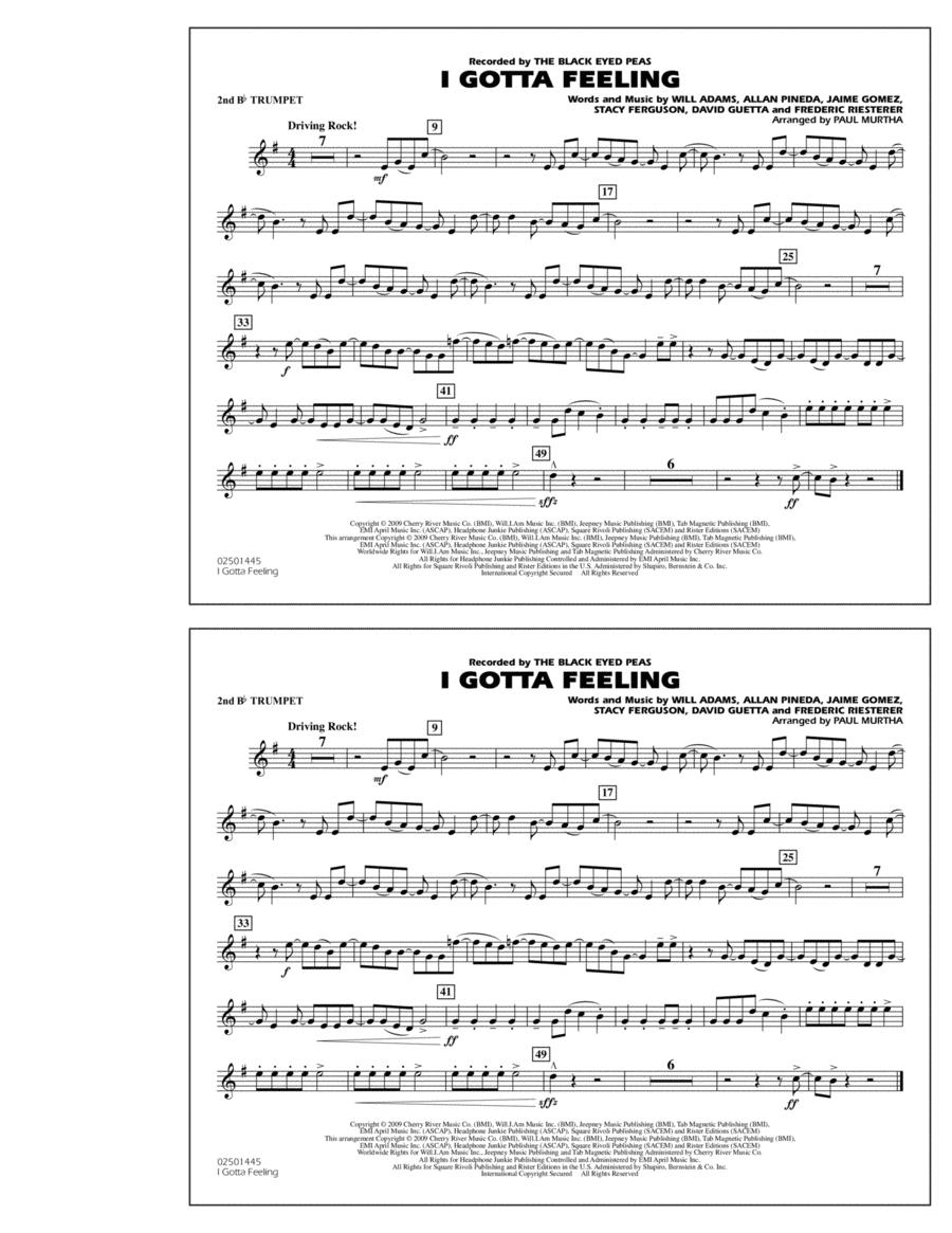 I Gotta Feeling - 2nd Bb Trumpet