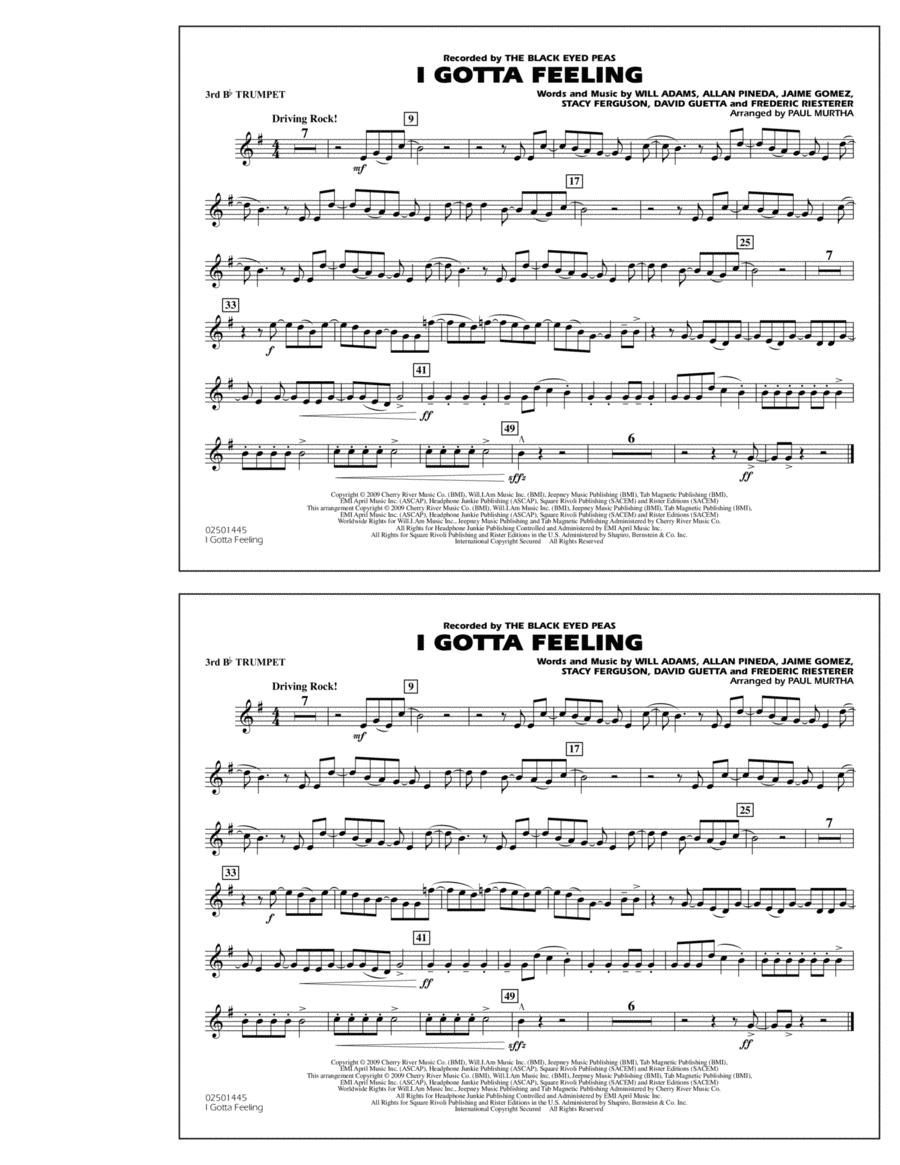 I Gotta Feeling - 3rd Bb Trumpet