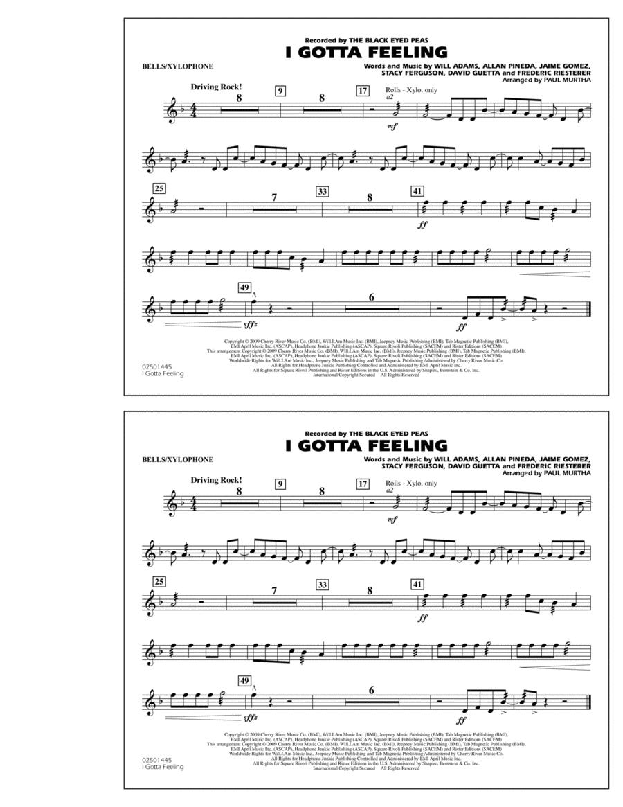 I Gotta Feeling - Bells/Xylophone