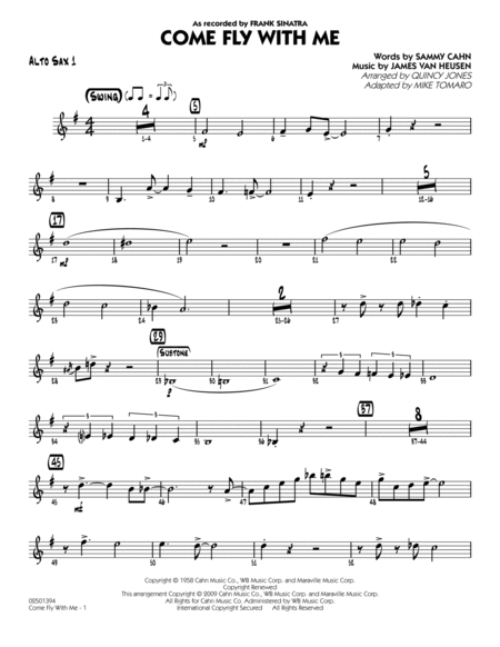 Come Fly With Me - Alto Sax 1