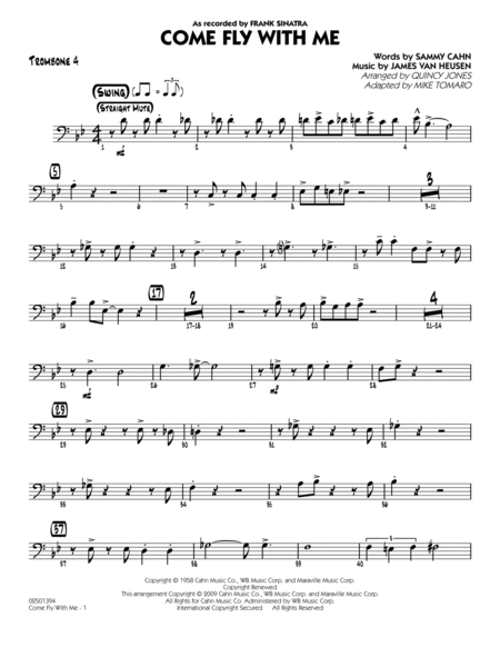 Come Fly With Me - Trombone 4