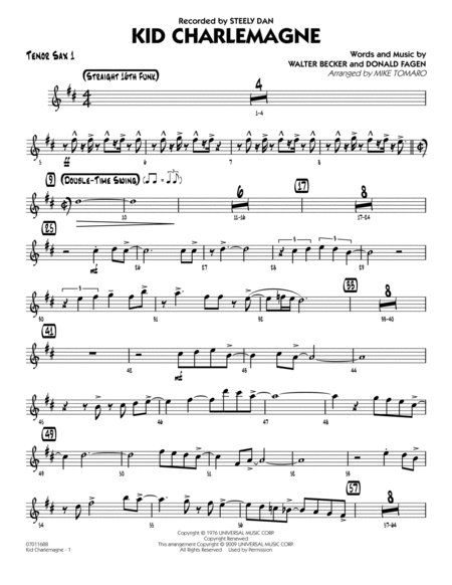 Kid Charlemagne - Tenor Sax 1