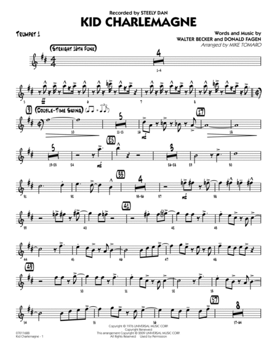 Kid Charlemagne - Trumpet 1