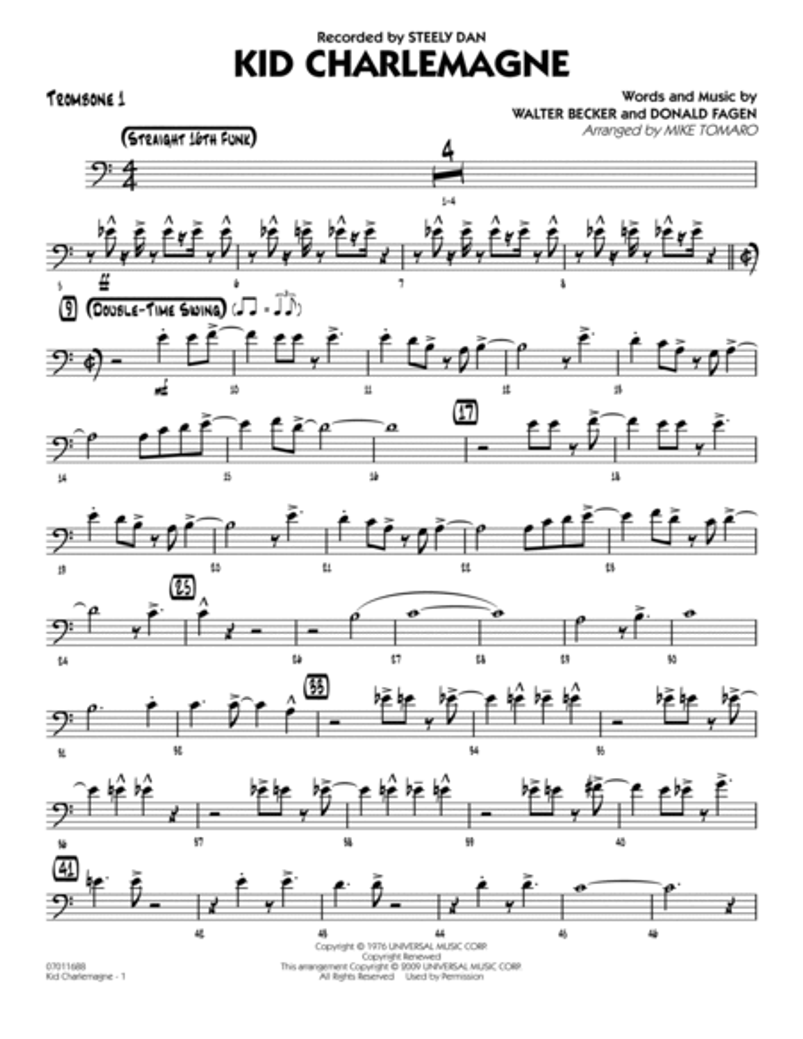 Kid Charlemagne - Trombone 1