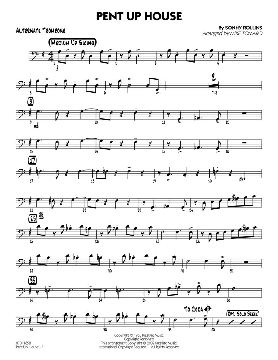 Pent Up House - Alternate Trombone