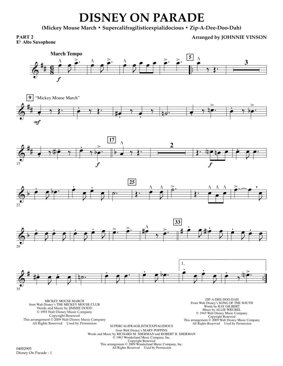 Disney on Parade - Pt.2 - Eb Alto Saxophone
