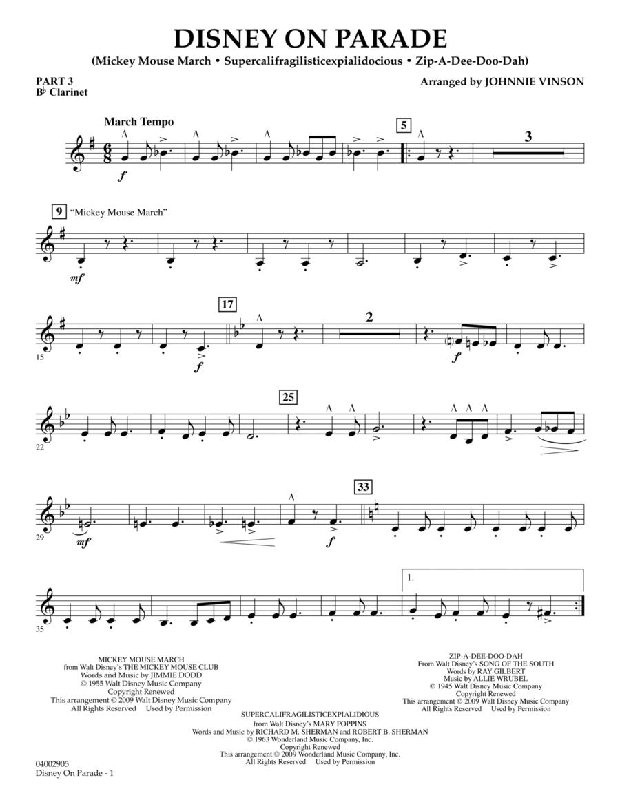 Disney on Parade - Pt.3 - Bb Clarinet