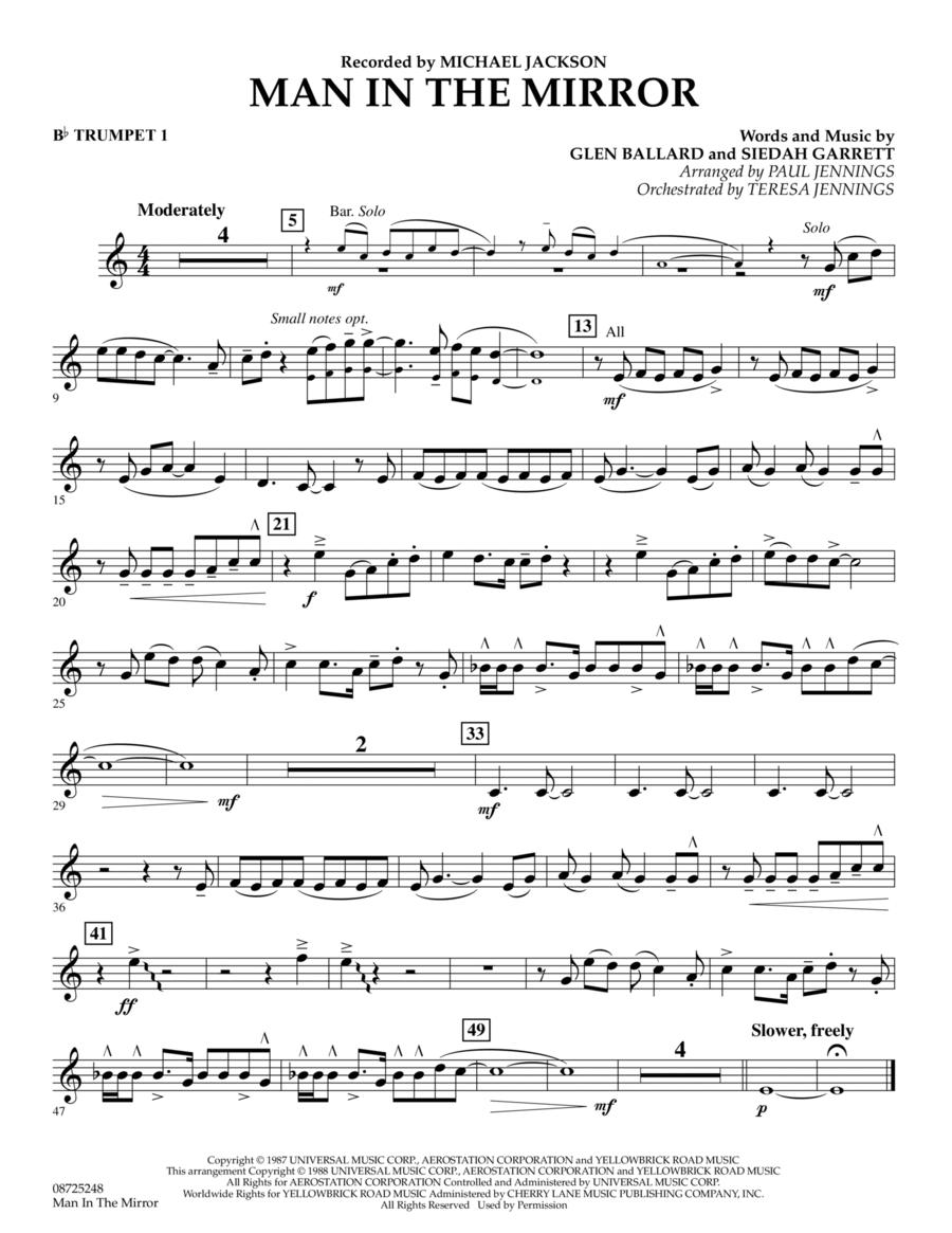 Man In The Mirror - Bb Trumpet 1