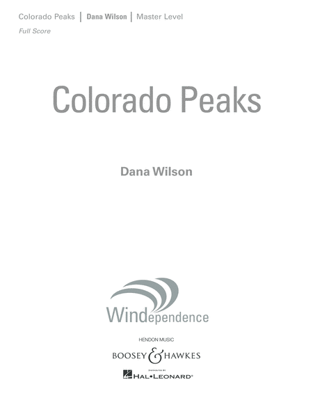 Colorado Peaks - Conductor Score (Full Score)