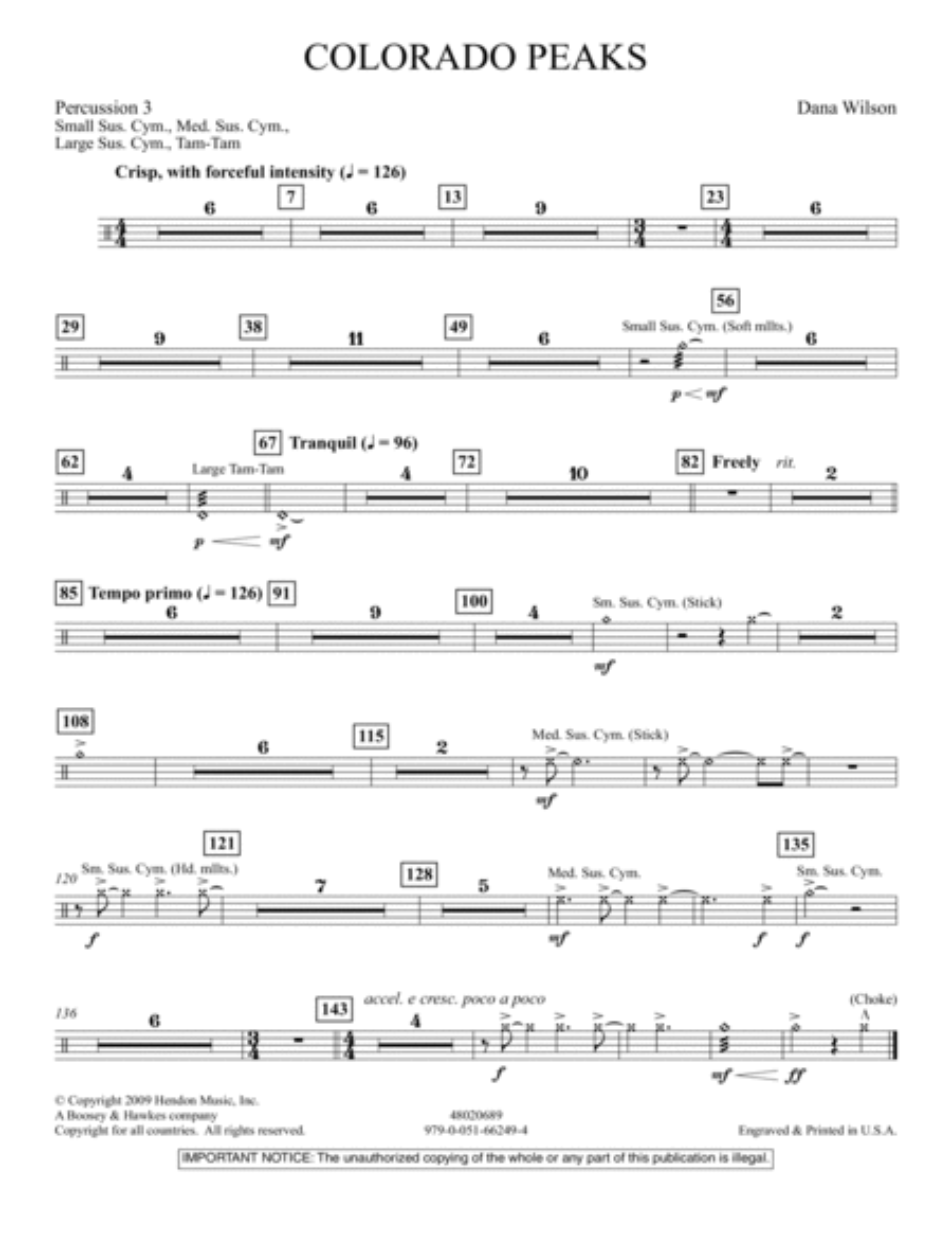 Colorado Peaks - Percussion 3