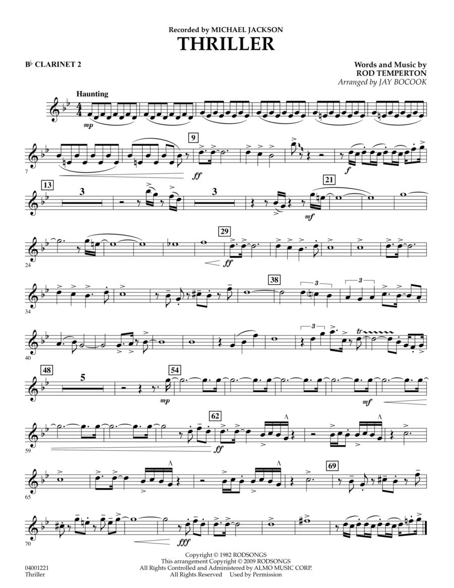 Thriller - Bb Clarinet 2