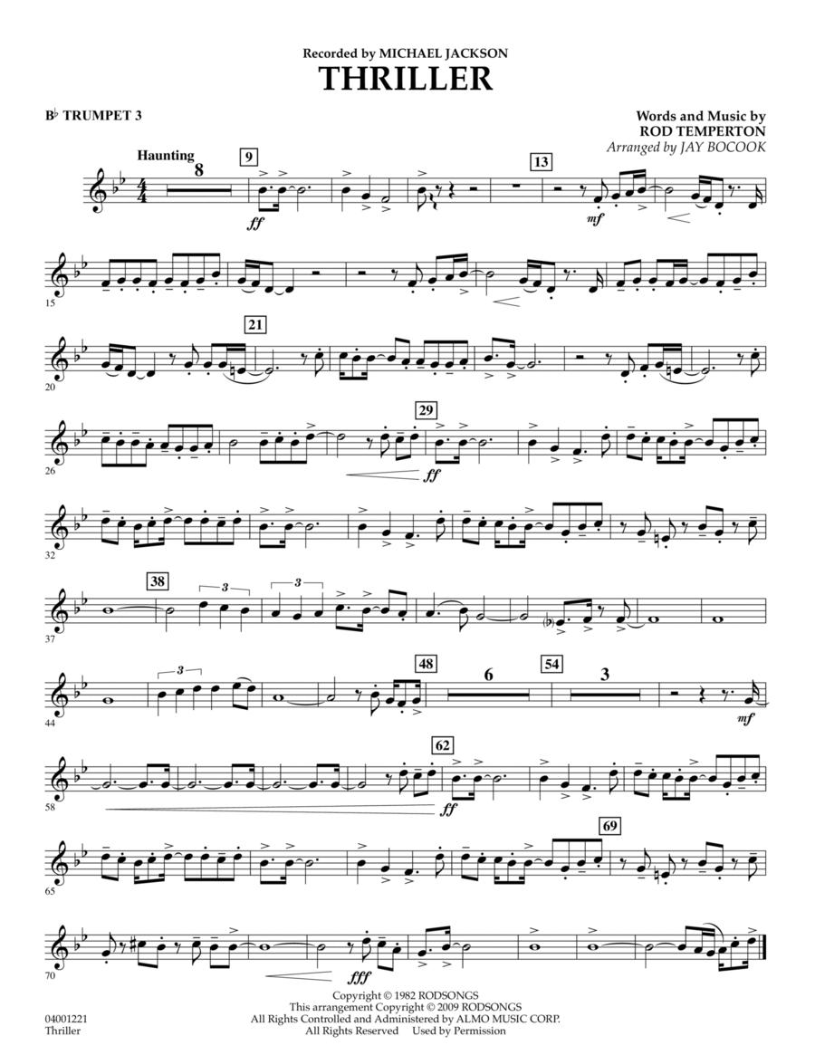 Thriller - Bb Trumpet 3