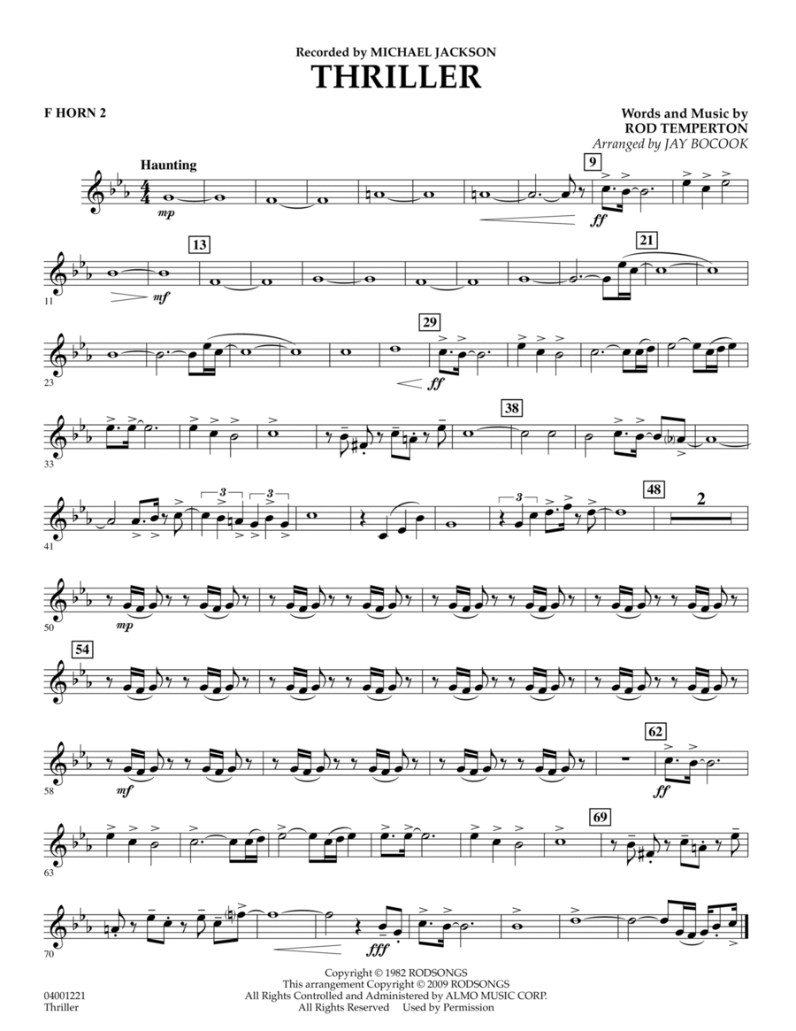 Thriller - F Horn 2