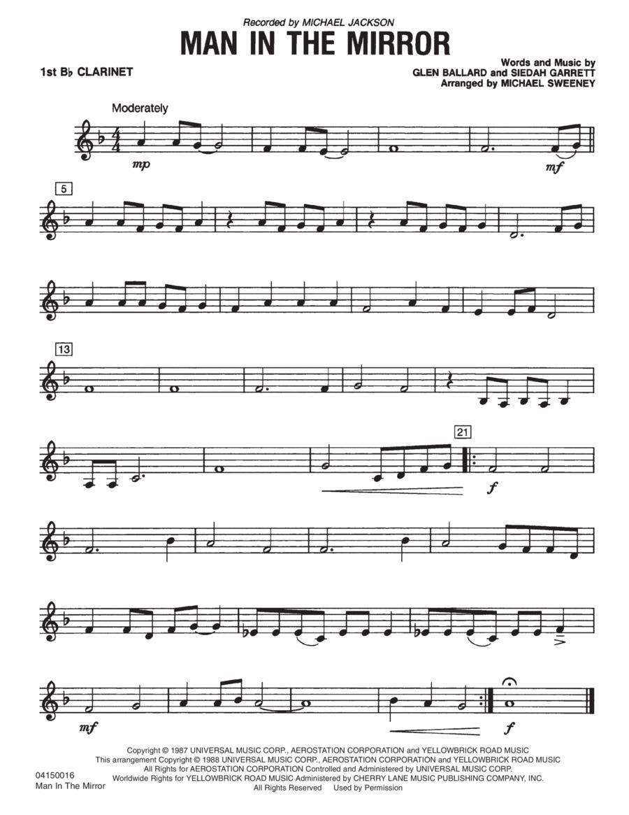 Man In The Mirror - Bb Clarinet 1