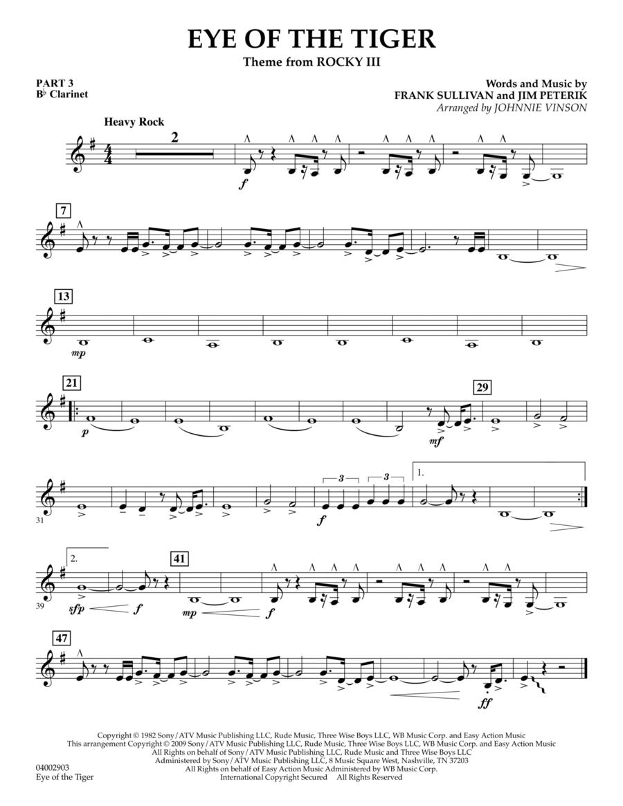 Eye Of The Tiger - Pt.3 - Bb Clarinet