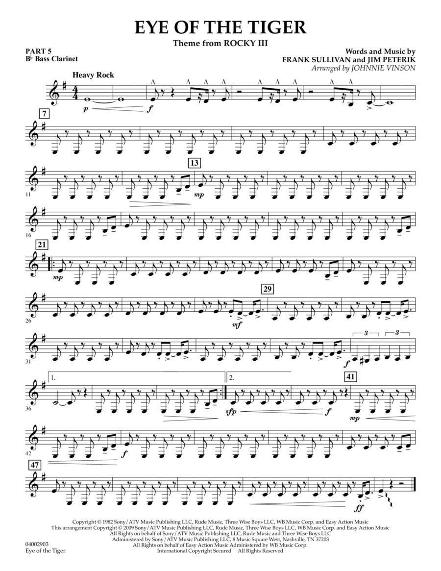 Eye Of The Tiger - Pt.5 - Bb Bass Clarinet