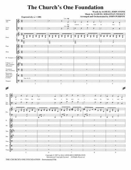 The Church's One Foundation - Full Score