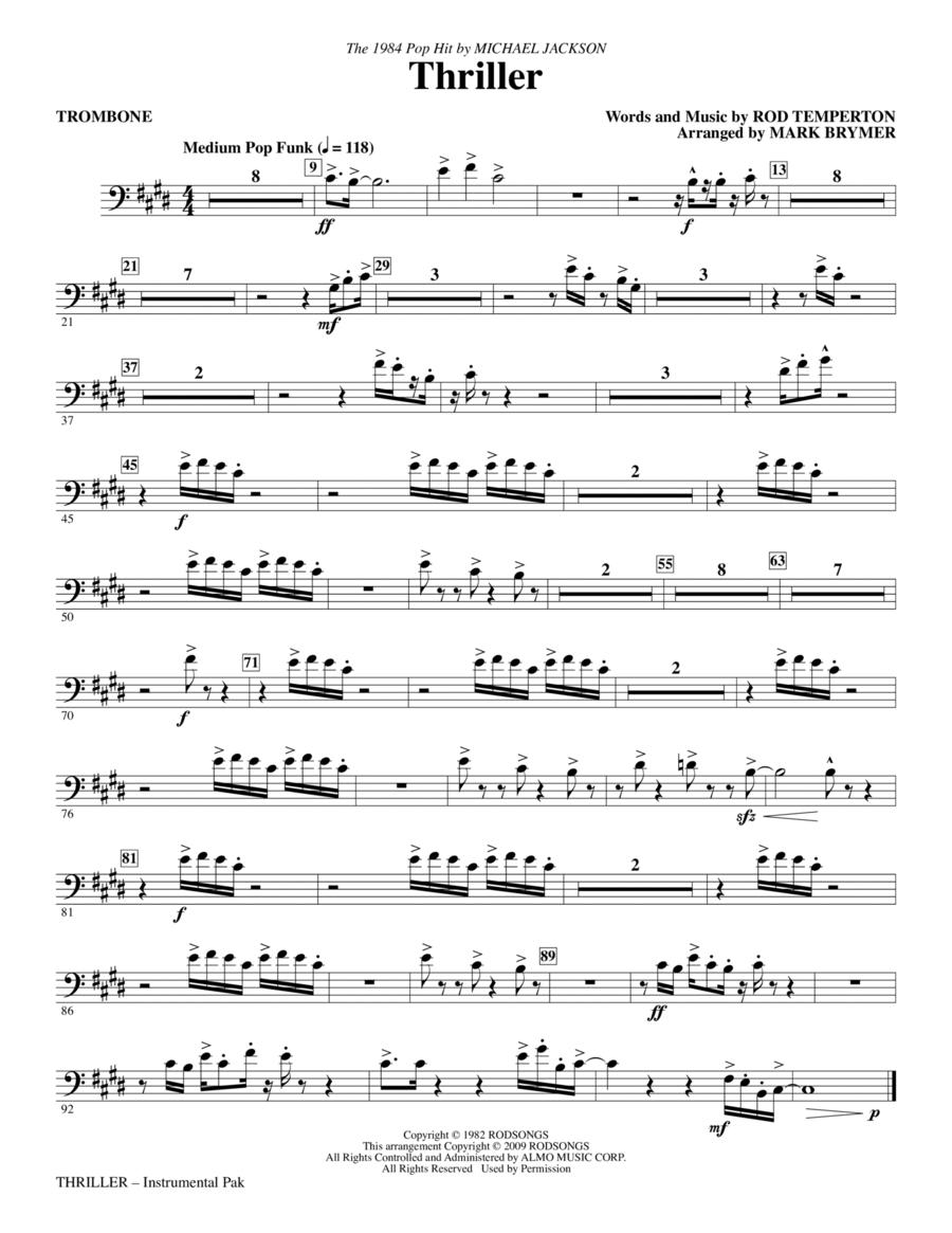 Thriller - Trombone