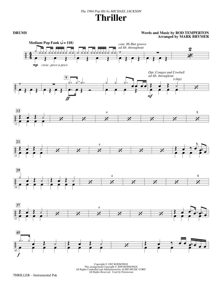 Thriller - Drums