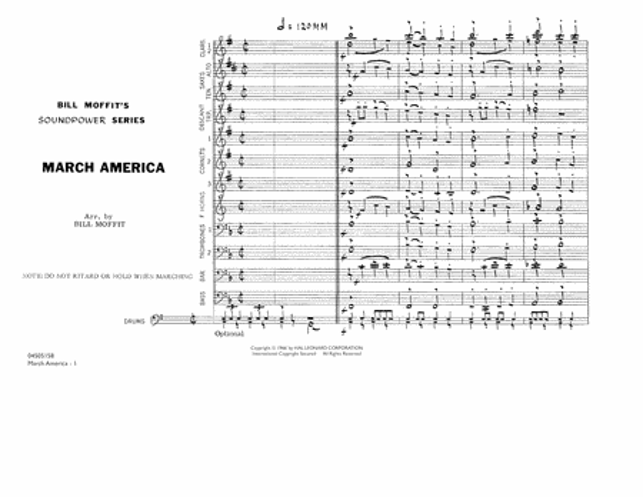 March America - Conductor Score (Full Score)