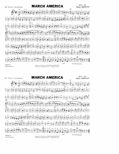 March America - Bb Tenor Saxophone