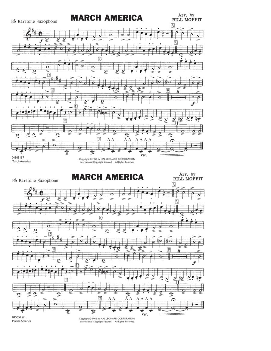 March America - Eb Baritone Sax