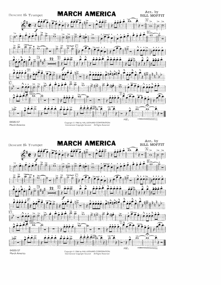 March America - Descant Bb Trumpet