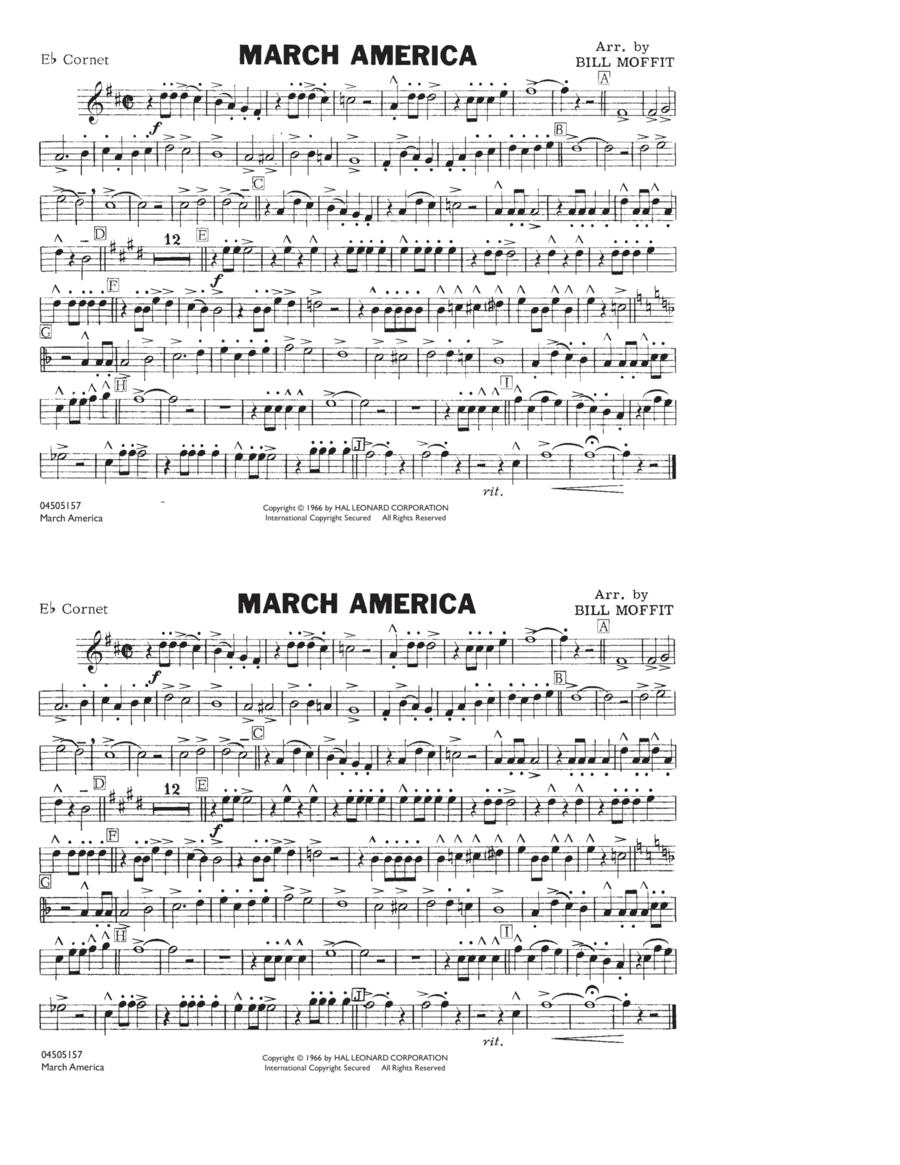 March America - Eb Cornet