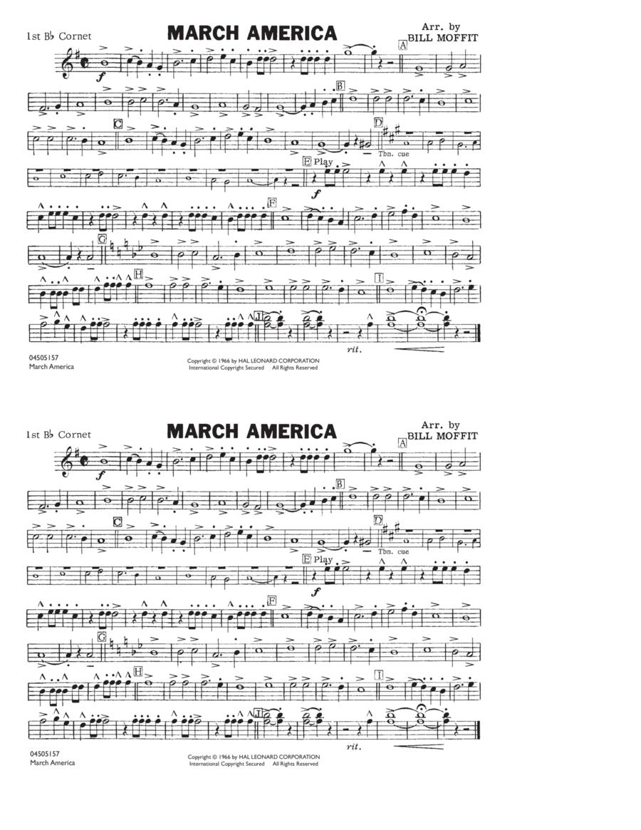 March America - 1st Bb Cornet