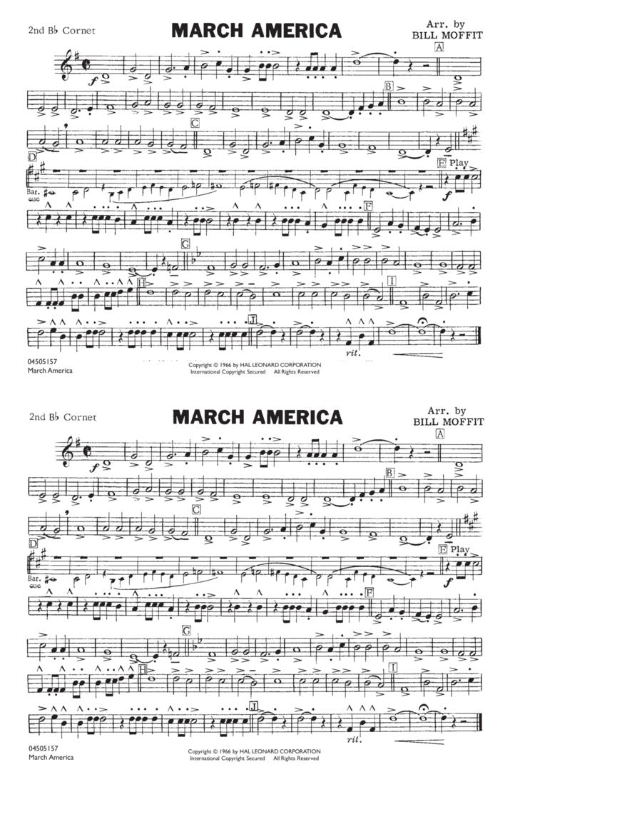 March America - 2nd Bb Cornet