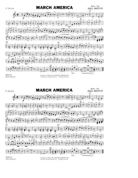 March America - F Horn