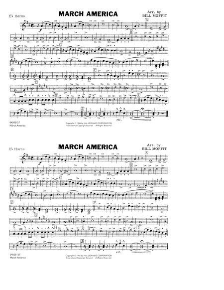 March America - Eb Horn