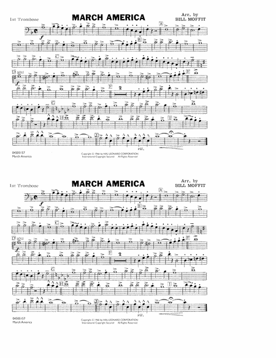 March America - 1st Trombone
