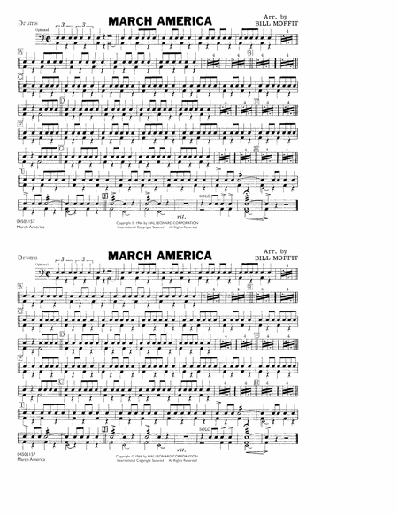 March America - Drums