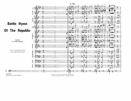 Battle Hymn Of The Republic - Conductor Score (Full Score)