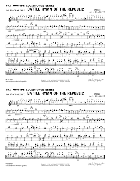 Battle Hymn Of The Republic - 1st Bb Clarinet