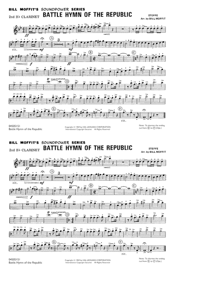 Battle Hymn Of The Republic - 2nd Bb Clarinet