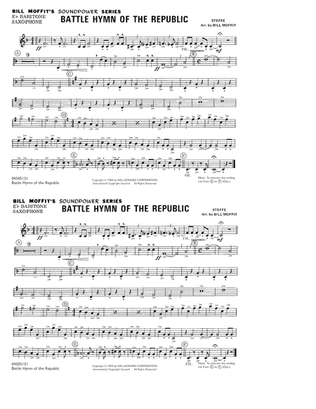 Battle Hymn Of The Republic - Eb Baritone Sax