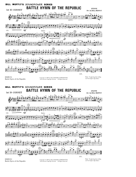 Battle Hymn Of The Republic - 1st Bb Cornet