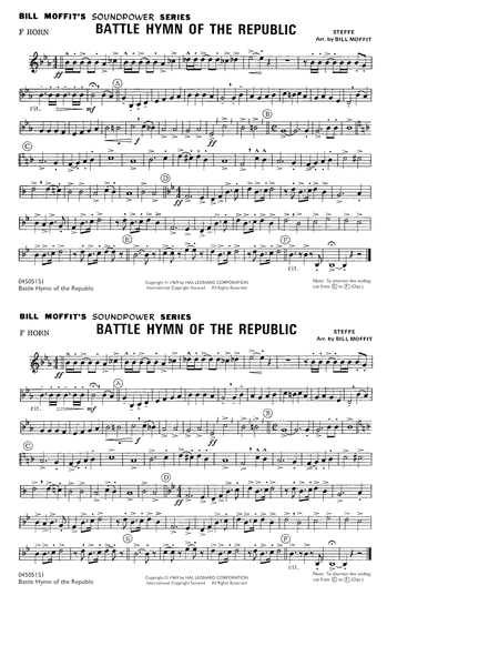 Battle Hymn Of The Republic - F Horn