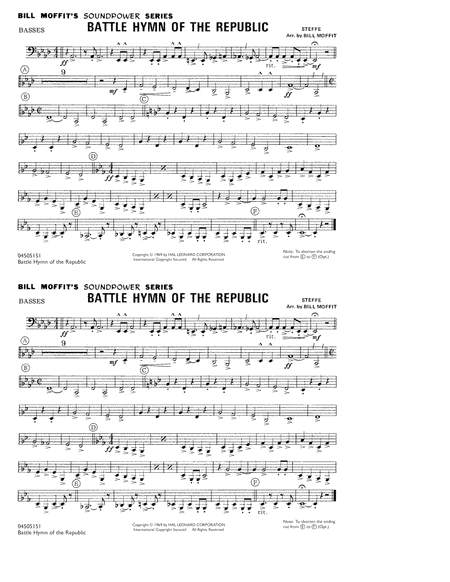 Battle Hymn Of The Republic - Basses
