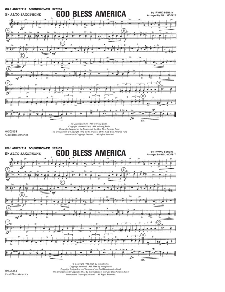 God Bless America - Eb Alto Saxophone