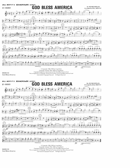 God Bless America - Eb Horn