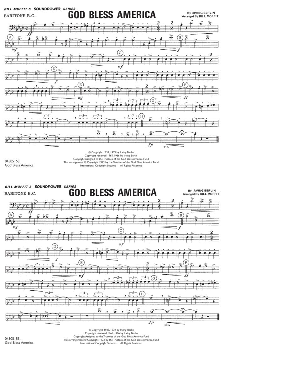 God Bless America - Baritone B.C.
