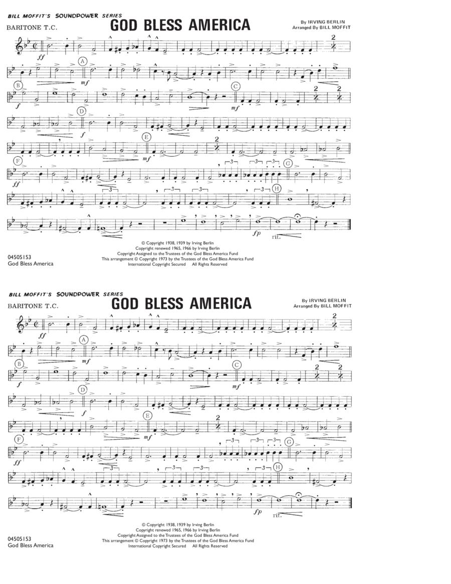 God Bless America - Baritone T.C.