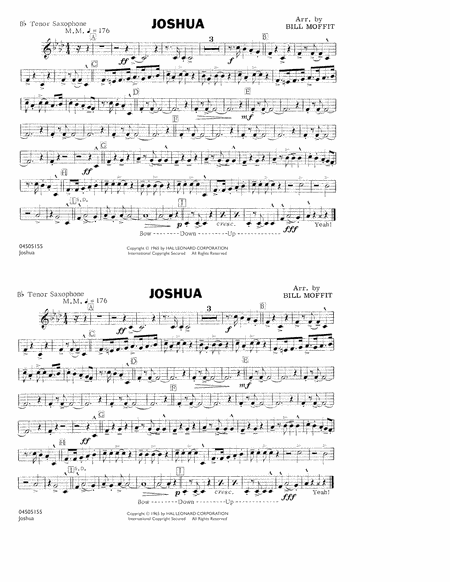 Joshua - Bb Tenor Saxophone