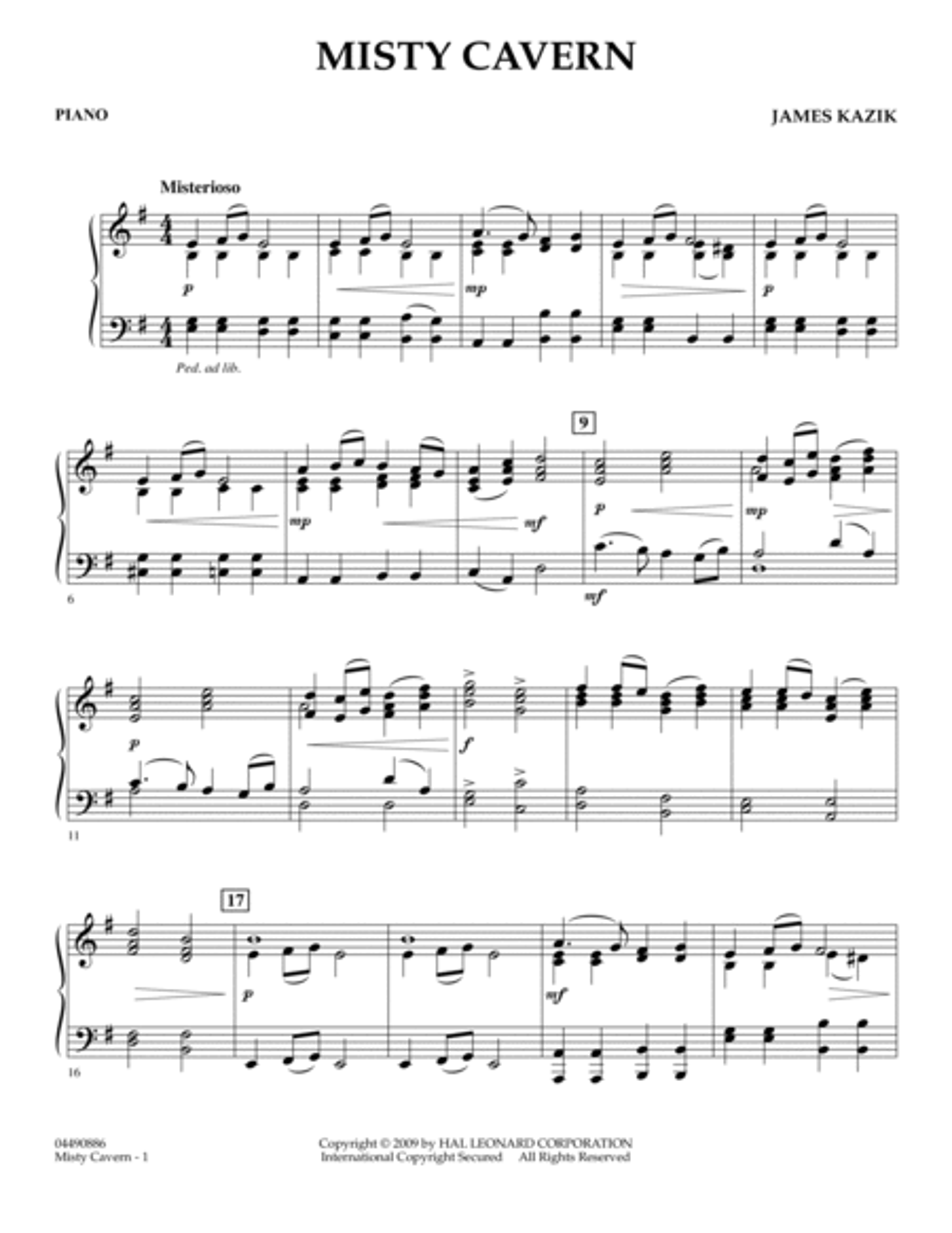 Misty Cavern - Piano